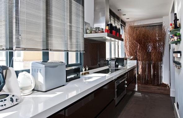 Muebles de cocina con pisos oscuros ideas for Muebles de cocina oscuros
