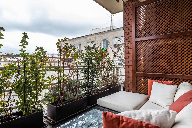 Terraza de uno de los dormitorios.